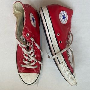 Men's Red High Top Converse Sneakers Sz 11